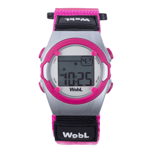 WobL alarm reminder watch, pink