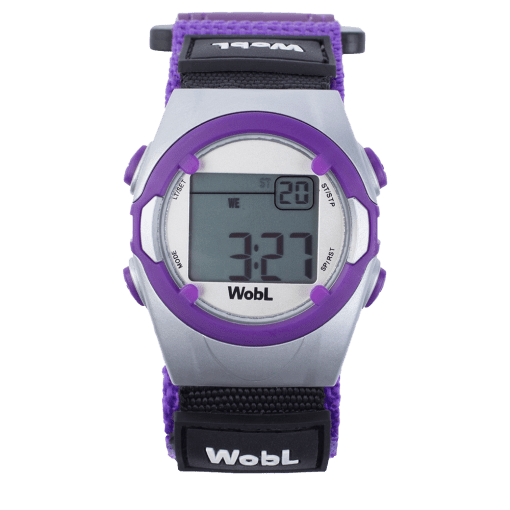 Purple alarm reminder watch