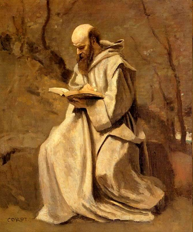 Corot_Monk_Reading_Book_1