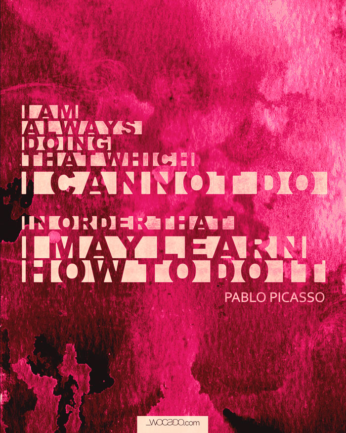 I may learn - Pablo Picasso's Printable Quote by WOCADO