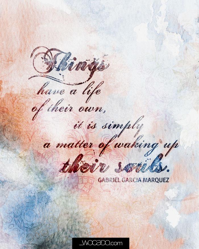 Wake up their Souls - Gabriel Garcia Marquez Printable by WOCADO