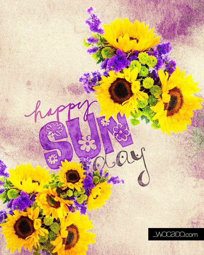 Happy Sunday Printable by Wocado