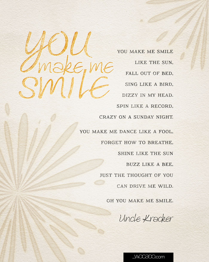 You make me smile printable 8x10 by WOCADO