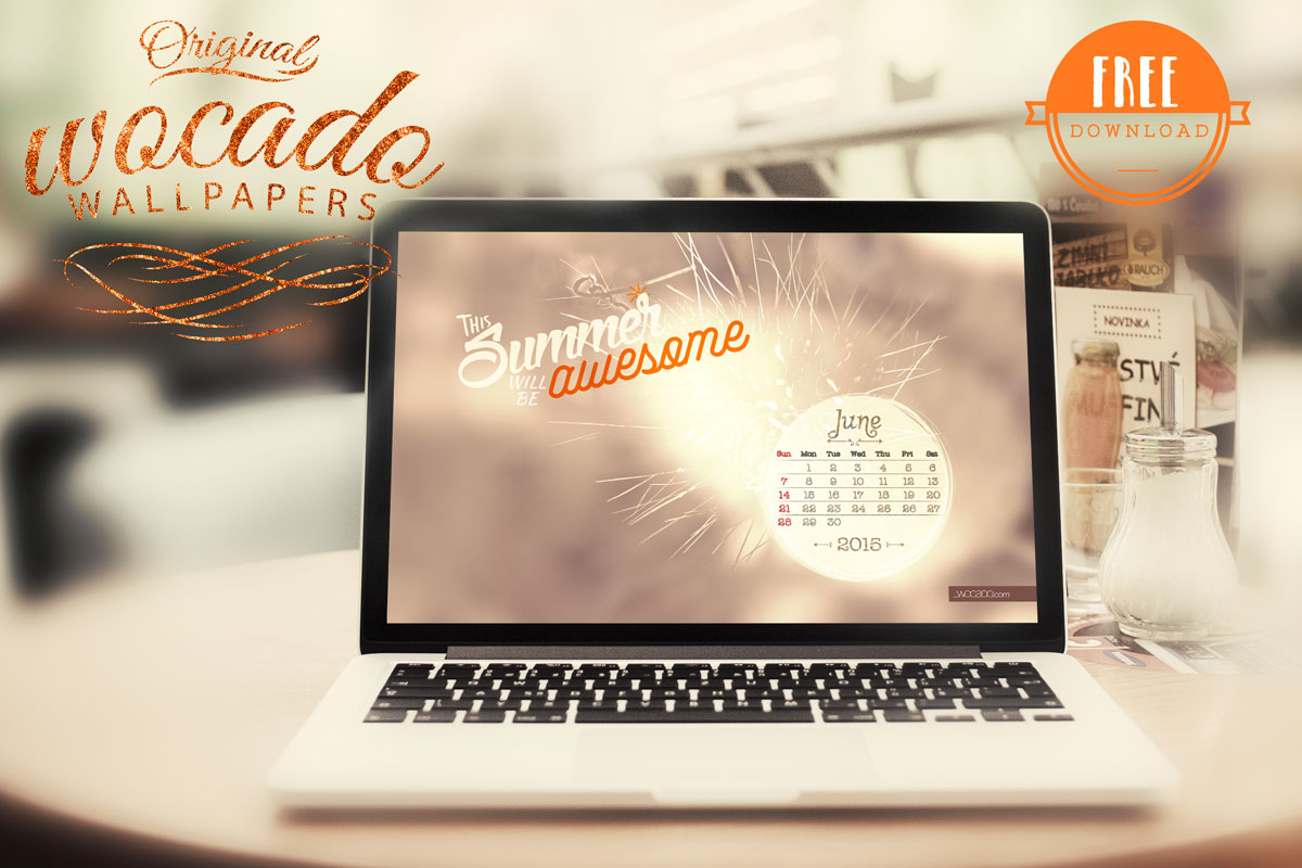 June 2015 Wallpaper Calendar by WOCADO - FREE Download