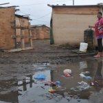 Flüchtlinge dem Wetter und Krankheiten ausgesetzt