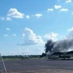 Flugzeug stürzt am Flughafen Silvio Pettirossi ab