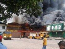 Großbrand im Abasto Markt