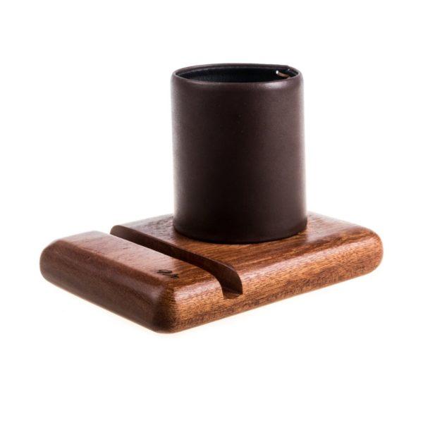 The Worganizer : Acajou cuir marron