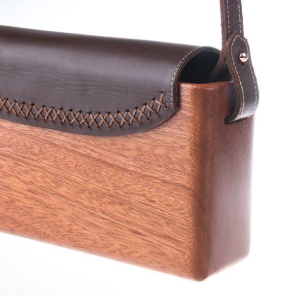 The Wagbag : Acajou cuir marron