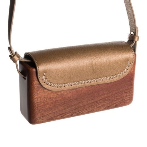 The Wagbag : Acajou cuir gold
