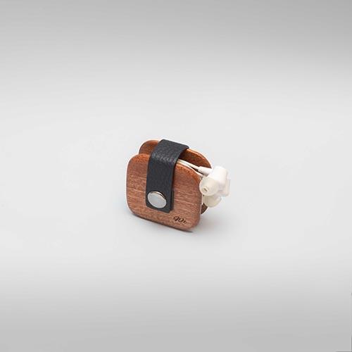 porte écouteurs bois cuir tunisie