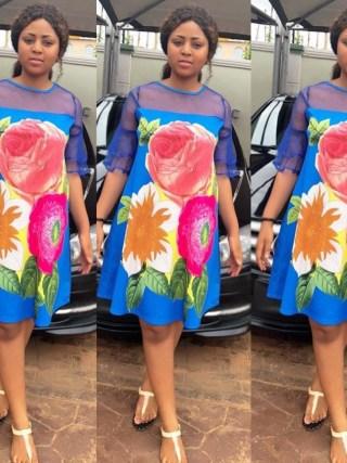 Elegant Women Patchwork Mesh Dress Casual Floral Print Dress Loose Half Sleeve Mini A-Line Dress