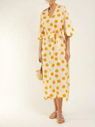HIGH STREET New Fashion 19 Summer Designer Runway Dress Women's Half Sleeve Floral Print Mid-calf Dress