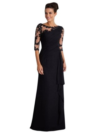 19 Women maxi dress Ladies Long Dress Lace Stitching Round Neck half Sleeve Dress Formal Dress