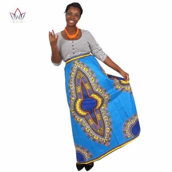 African Skirts for Women Long African Skirts Maxi Skirt Retro Fashion African Clothes Faldas Largas Estampadas 6XL BRW WY1370