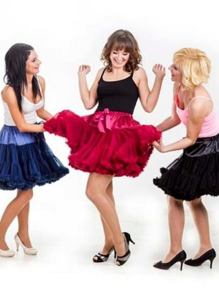 Tutu Skirt Ball Gown 2 Layer 1 Lining Fluffy Party Dance