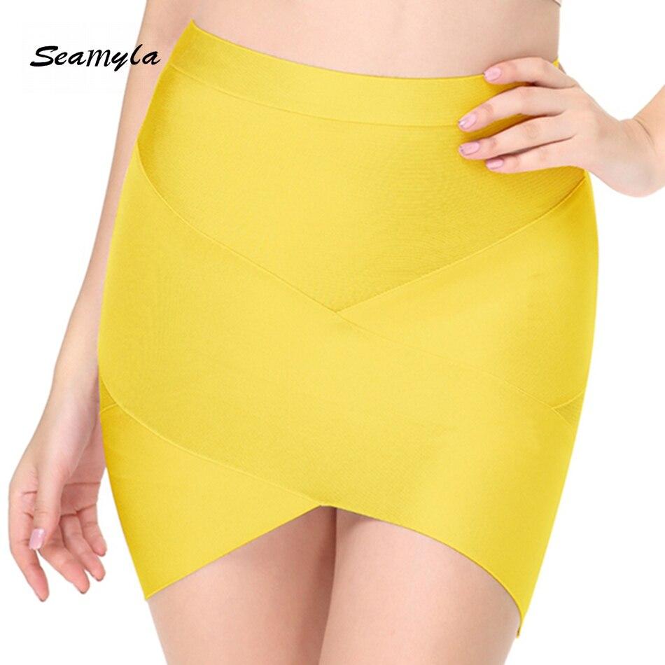 Seamyla 19 New Fashion Women Skirts Sexy Celebrity Party Bodycon Bandage Pencil Skirt Night Out Club Mini Skirts Wholesale
