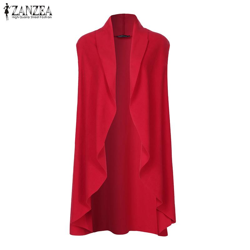 ZANZEA Women Vests Casual Loose Sleeveless Cardigan 2019 Fashion Chaqueta Mujer Plus Size Solid Coats Jackets Outwear Overcoats