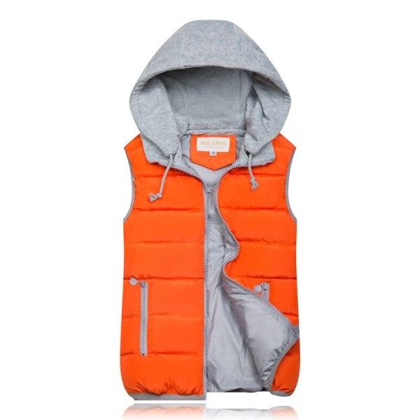 Winter Coat Women Hooded Warm Vest Plus Size Candy Color Cotton Jacket Female Women Wadded Feminina chalecos