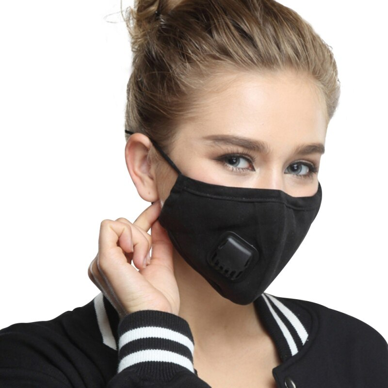 Cotton Face Mask With Filters Activated Carbon Filter Pm2.5 Mask Dust Respirator Reusable Masks