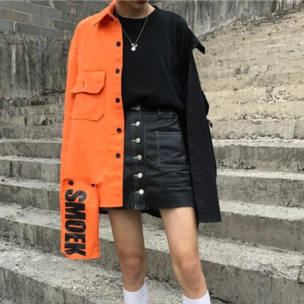 Spring streetwear New free Patchwork ladies jacket