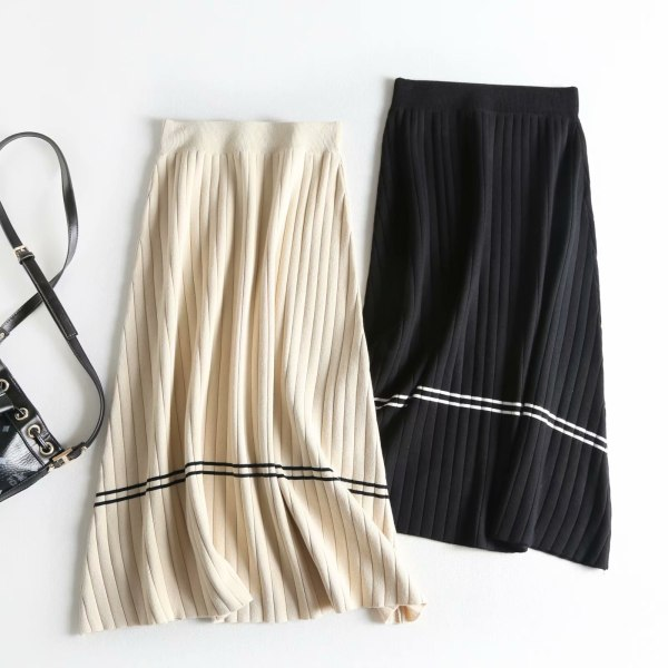 Excessive Waist Girls Spring Skirts Classic Knitting