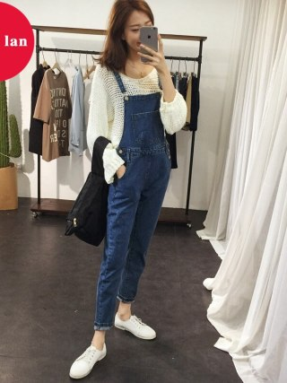 Denim Rompers Womens Jumpsuits Huge Legs