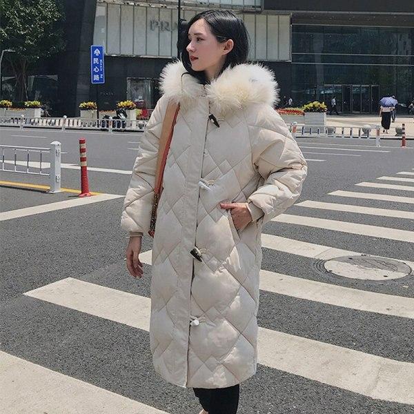 X-long Horn Button Girls's Jacket Plus Measurement Stable