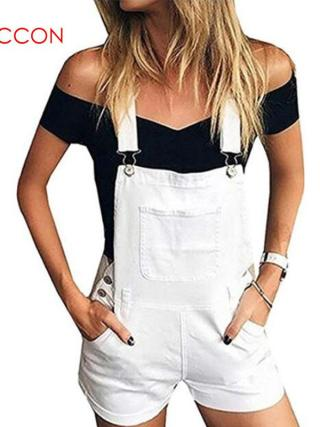Brief Stable Denim Jumpsuit Romper Overalls
