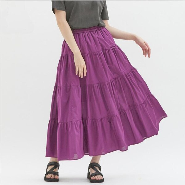 Sweet Colour Strong Ladies Lengthy Skirts Candy