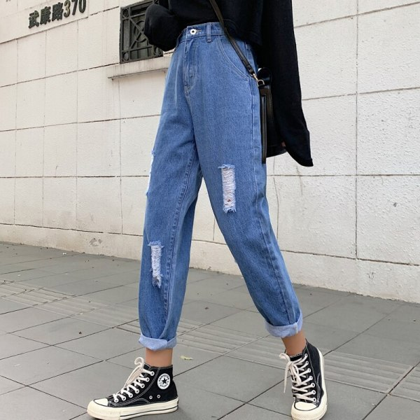 Ripped Mother Denims Excessive Waist Straight Denims For Girls