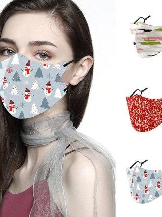 Male, Girls Christmas Face Masks Reusable