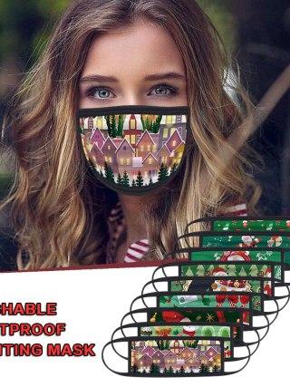 Protecting Christmas Face Masks Adjustable Comfortable