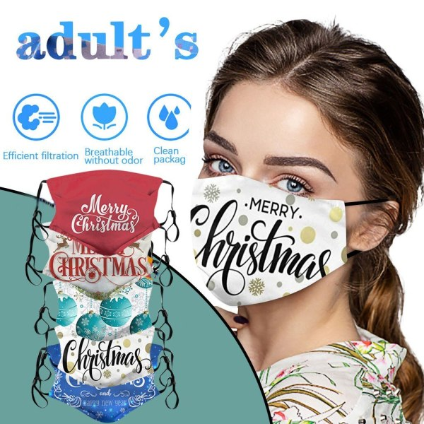 Christmas Face Masks Washable Proof Shield Face Mouth