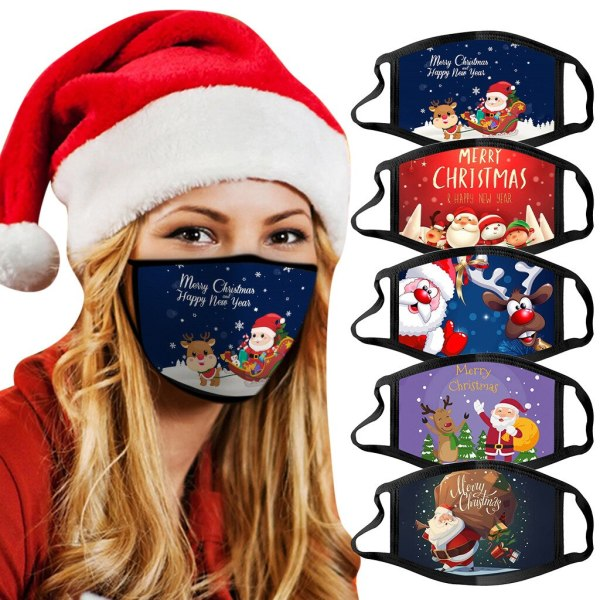 Adults Christmas Face Masks Reusable Washable Cotton
