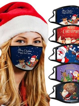 Adults Christmas Face Masks Reusable Washable Cotton