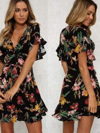 Girls Lengthy Boho Gown Summer time Maxi Print Shirts