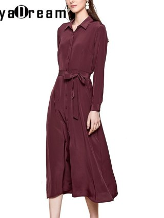 Silk Elegant Sash Workplace Girl Shirt Costume