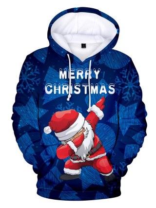 Christmas 3D Hoodies children and grownup Sweatshirts