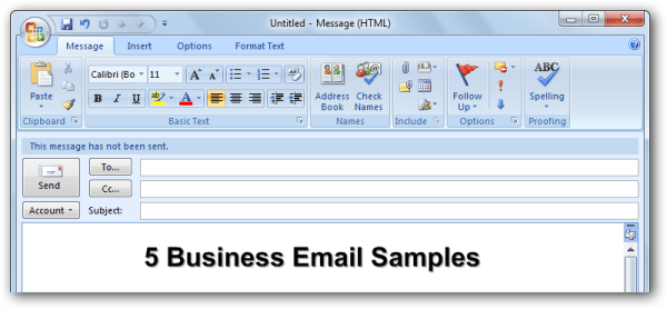 Business Email Samples