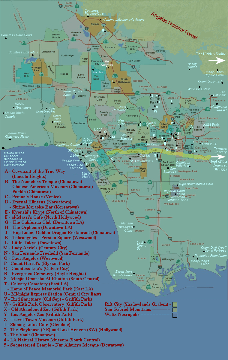 Los Angeles Hop On Hop Off Map : angeles, Angels