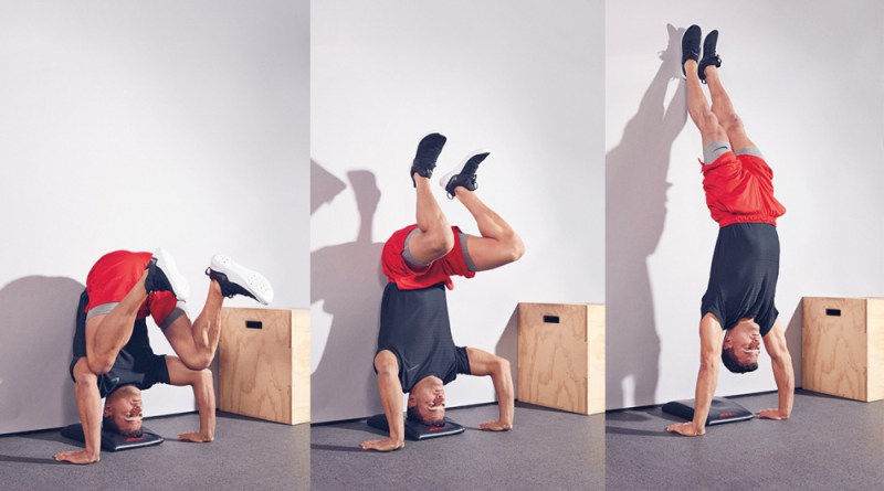 The perfect progression for learning handstand pushups