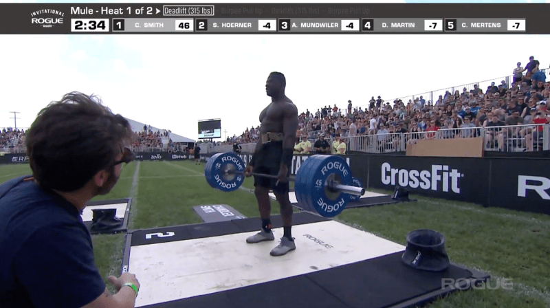 Chandler Smith leads heading back into the second set of deadlifts.