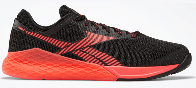 Reebok Nano 9 Black and Neon Red Colorway