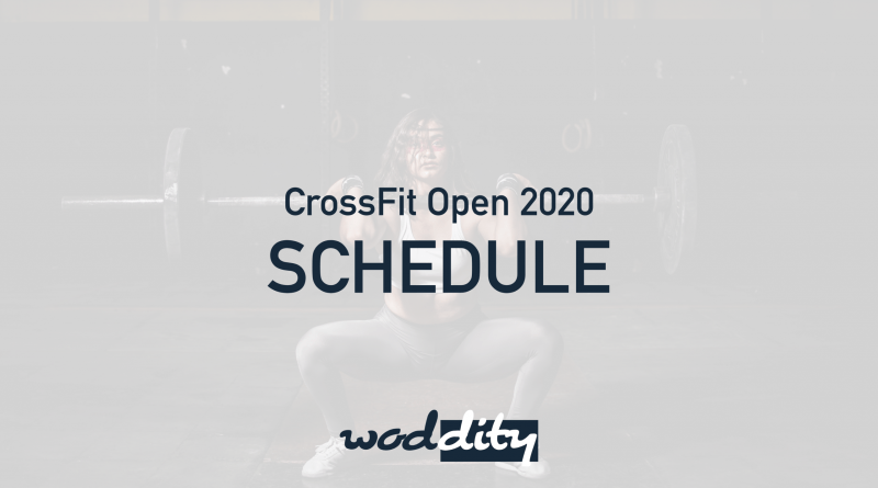 CrossFit Open 2020 Schedule