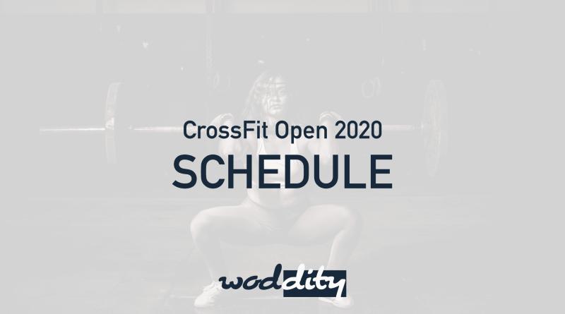 CrossFit Open 2020 Schedule