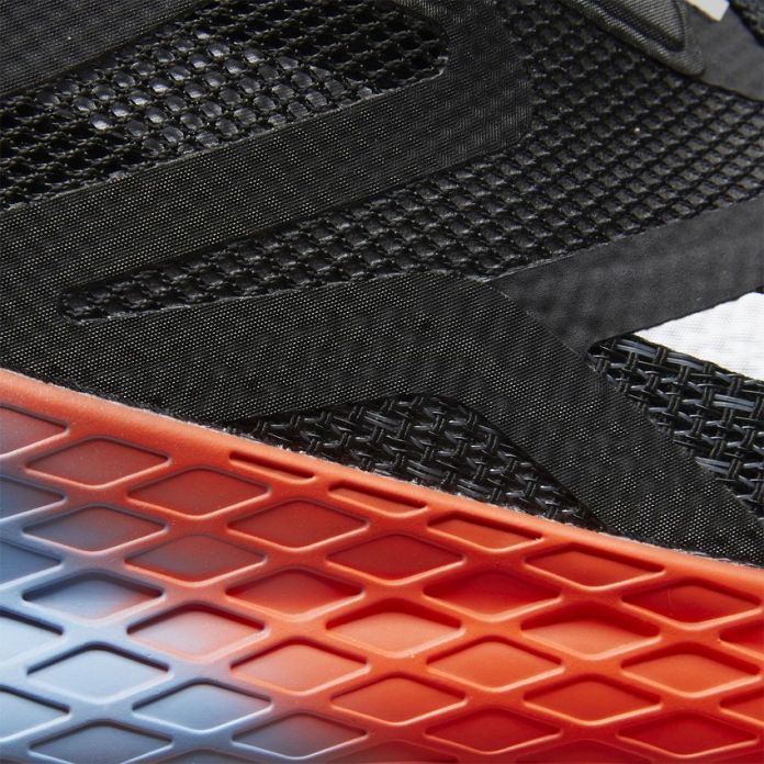 You can see here in this closeup of the Flexweave-looking material that the durable and flexible material does indeed live on in the Reebok Nano X (also known as the Reebok Nano 10)
