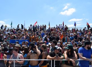 Fans watch over the outdoor competitions at the 2019 Reebok CrossFit Games