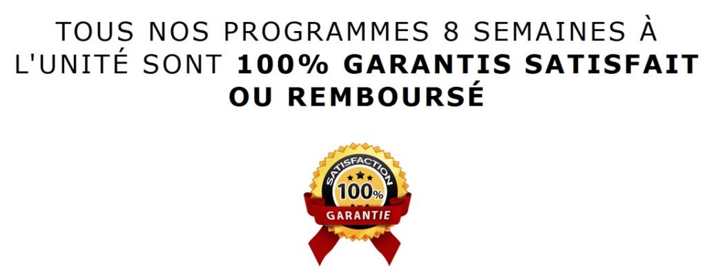 garantie ou remboursé road to rx