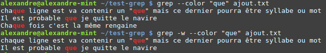 Option word grep
